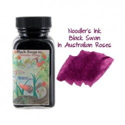 Noodler's Ink 3oz Glass Bottle Black Swan in Australian Roses