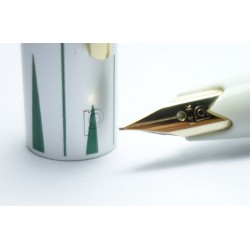 Platinum 14K Gold F nib Fountain Pen Floral