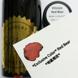 Robert Oster VITSTYLE RED BEAR (Exclusive) fountain pen ink 50ml