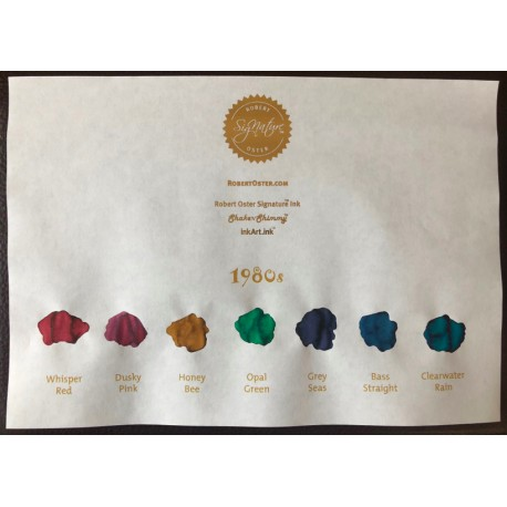 Robert Oster 1980's Collection fountain pen ink 50ml x 7