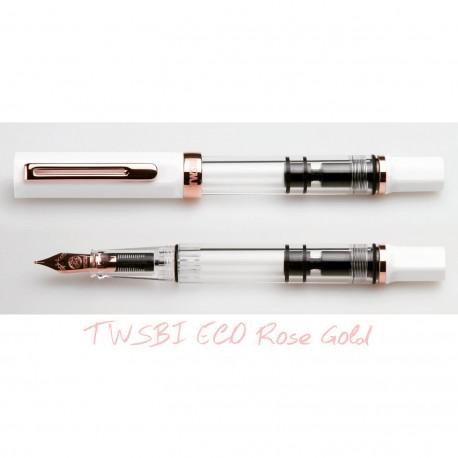 TWSBI ECO White - ROSE GOLD Fountain Pen