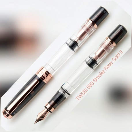 TWSBI 580 Smoke ROSE GOLD II Fountain Pen