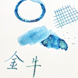 Tono & Lims X 星読 金牛 Waterproof Fountain Pen Ink-Star Light