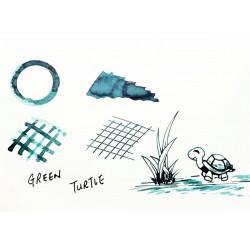 TONO&LIMS Green Turtle Fountain Pen Ink-幽玄