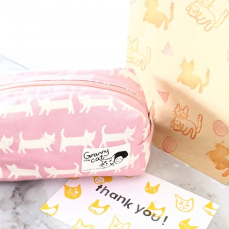 Granny.thecat Stationery Pouch - Pink