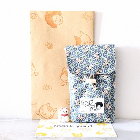 Granny.thecat Pen Pouch - Lucky Cat