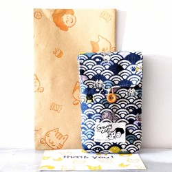 Granny.thecat Pen Pouch - Swimming Cats 海波